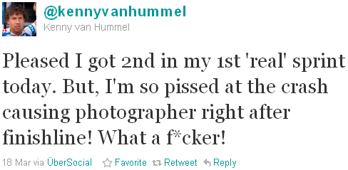 Kenny van Hummel - tweet of the week