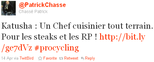 Patrick Chassé - tweet of the week