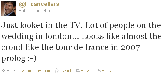 Fabian Cancellara - tweet of the week