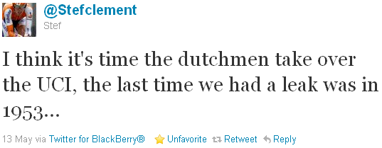 Stef Clement - tweet of the week