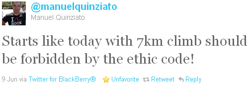 Manuel Quinziato - tweet of the week