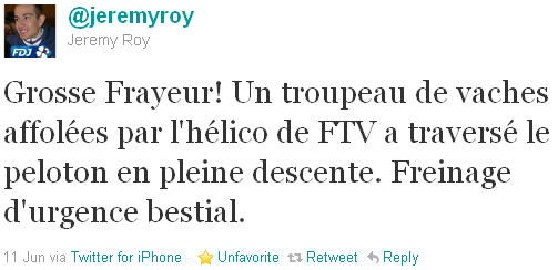 Jérémy Roy - tweet of the week