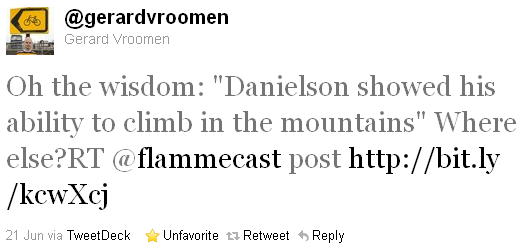 Gerard Vroomen - tweet of the week