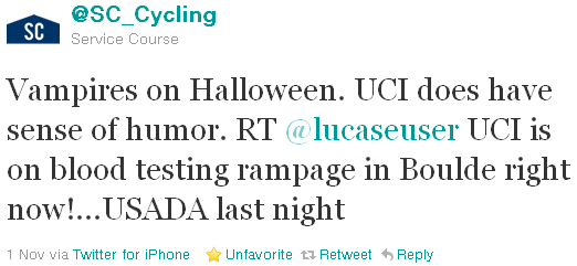 SC Cycling - tweet of the week