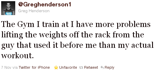 Greg Henderson - tweet of the week