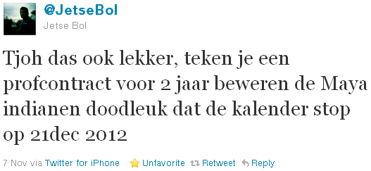 Jetse Bol - tweet of the week