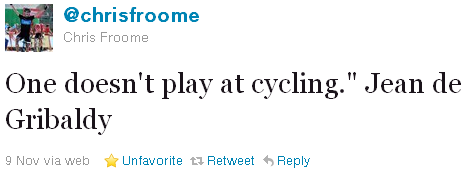 Chris Froome - tweet of the week