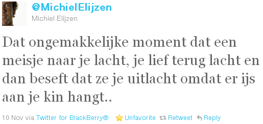 Michiel Elijzen - tweet of the week
