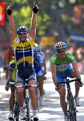Borut Bozic wins the 6th stage of the Vuelta 2009 - © Unipublic