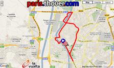 La carte du parcours de la première etappe de la Vuelta a Espa&ntildea 2010 sur Google Maps