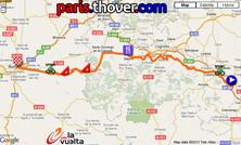 La carte du parcours de la treizième étape de la Vuelta a Espa&ntildea 2010 sur Google Maps