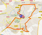 The map with the race route of the first stage of the Vuelta a Espa�a 2012 on Google Maps