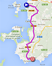 The map with the race route of the first stage of the Tour of Spain 2013 on Google Maps