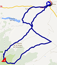 The map with the race route of the eleventh stage of the Tour of Spain 2013 on Google Maps
