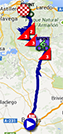 The map with the race route of the eighteenth stage of the Tour of Spain 2013 on Google Maps