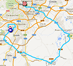 The map with the race route of the twentyfirst stage of the Tour of Spain 2013 on Google Maps