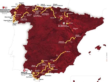 The official map of the Vuelta a Espa&ntildea 2014