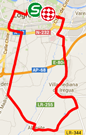 The map with the race route of the twelfth stage of the Tour of Spain 2014 on Google Maps