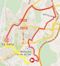 De kaart met het parcours van de eenentwintigste etappe van de Ronde van Spanje 2014 op Google Maps