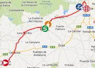 De kaart met het parcours van de vierde etappe van de Ronde van Spanje 2014 op Google Maps