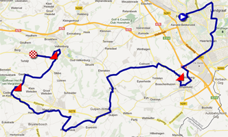The race route of the World Championships 2012 on Google MapsGoogle