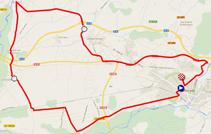 La carte du parcours du contre-la-montre par équipes Elite Dames des Championnats du Monde de Cyclisme sur Route 2014 sur Google Maps