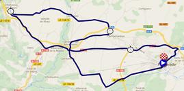 La carte du parcours du contre-la-montre par équipes Elite Hommes des Championnats du Monde de Cyclisme sur Route 2014 sur Google Maps