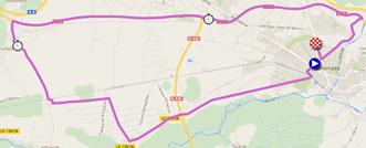 La carte du parcours du contre-la-montre individuel Hommes Espoirs (U23) des Championnats du Monde de Cyclisme sur Route 2014 sur Google Maps