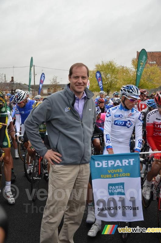 Christian Prudhomme au départ de Paris-Tours 2011