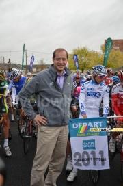 Christian Prudhomme au départ de Paris-Tours 2011