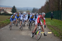 Arnaud Démare starts the race in front