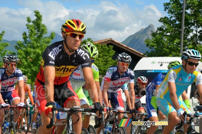 Philippe Gilbert (BMC Racing Team) net na het vertrek