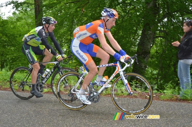 Jos van Emden (Rabobank) & Leigh Howard (Orica-GreenEDGE)