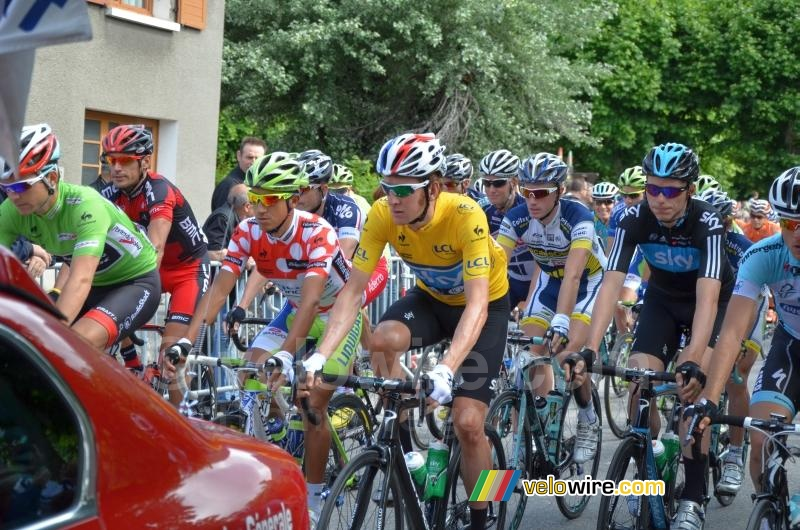 Bradley Wiggins (Team Sky) aan de start