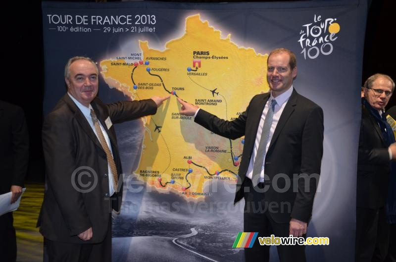 Tours op de kaart van de Tour de France 2013