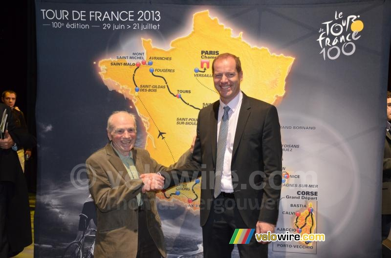 Robert Marchand met Christian Prudhomme
