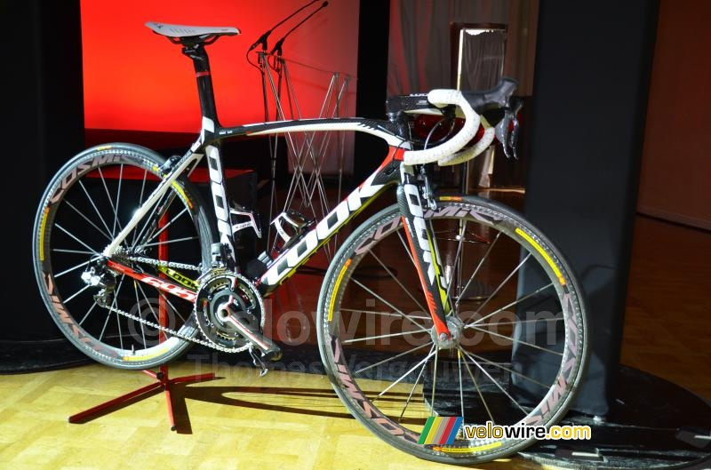 The Look 695, the official bike for the Cofidis team