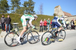 Bert-Jan Lindeman op weg naar de punten op de Côte de Buthier