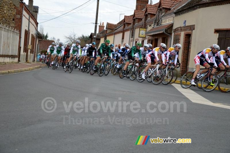 The peloton in Les Choux