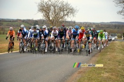 The peloton just after Blet
