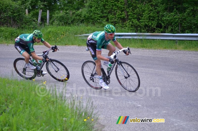 Thomas Voeckler (Europcar) in een bocht