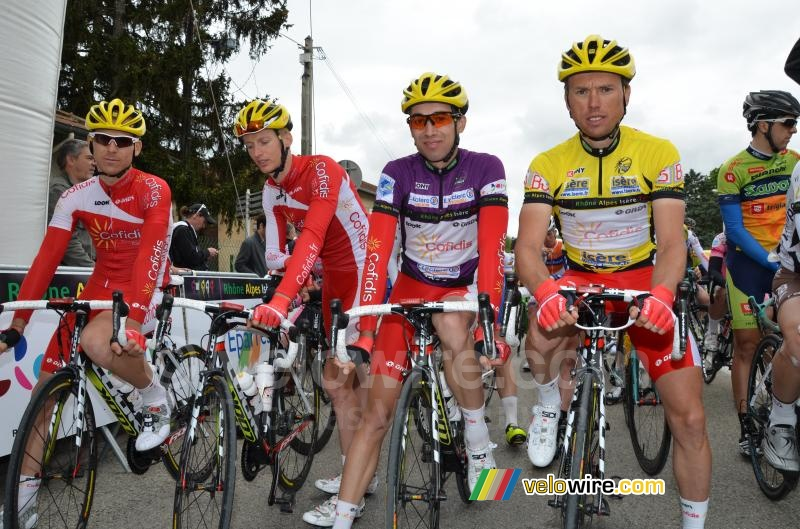 A part of the Cofidis team at the start