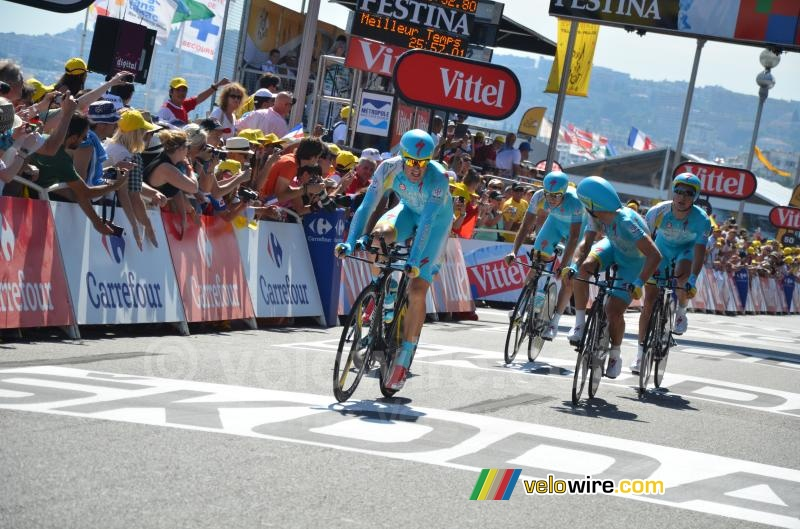 The Astana team