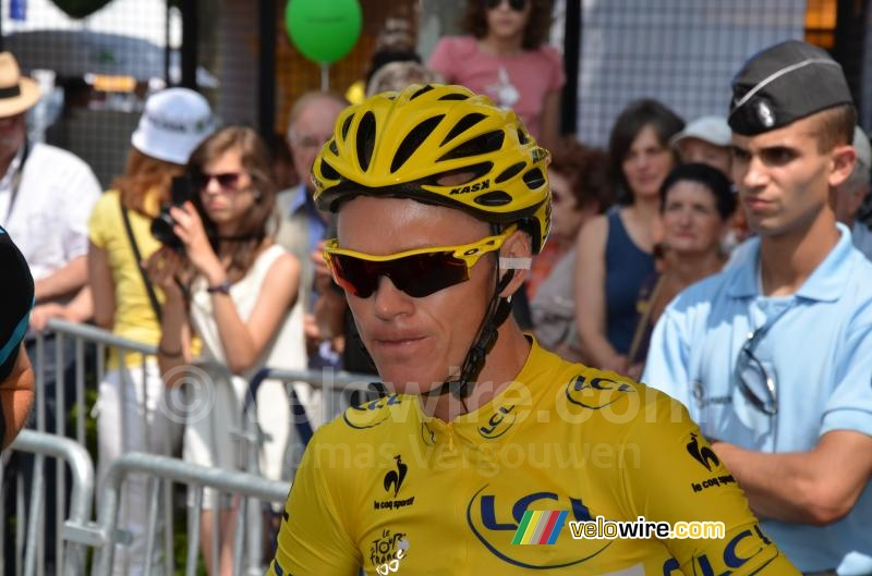 Chris Froome (Team Sky) before the start