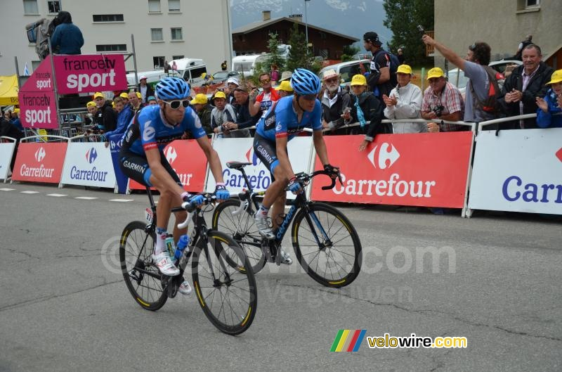Ryder Hesjedal & Tom Danielson (Garmin-Sharp)