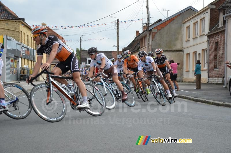 Samuel Dumoulin & Davide Appollonio (AG2R) in Chocques