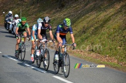 The breakaway at the foot of the Col du Champ Juin