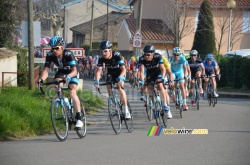 Team Sky leading the peloton