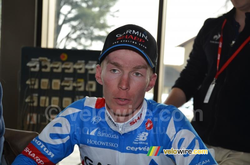 Tom-Jelte Slagter (Garmin-Sharp) at the press conference