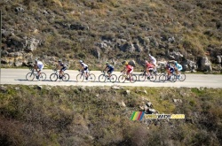 The breakaway on the Col de Vence
